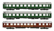 Rivarossi 4236 3-unit set, period III, contains 2nd class-coaches + restaurant coach, period III