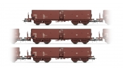 Rivarossi 6267 Set x 3 self-discharging wagons, type Fal-zz, used by SDAG Wismut, DR