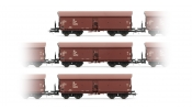 Rivarossi 6268 Set x 3 self-discharging wagons, type OOtu, DR