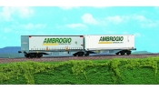 ACME 40286 Container wagon Sggmrss '90, with 2 swap bodies AMBROGIO