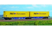 ACME 40287 Container wagon, Sggmrss, 90, hired to P&O Ferrymaters