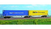 ACME 40288 Container wagon, Sggmrss, 90, hired to P&O Ferrymaters