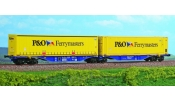 ACME 40289 Container wagon, Sggmrss, 90, hired to P&O Ferrymaters