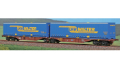 ACME 40293 Articulated container wagen Type Sggmrss 90 Touax, hired by Cemat with LKW Walter Swap bodies