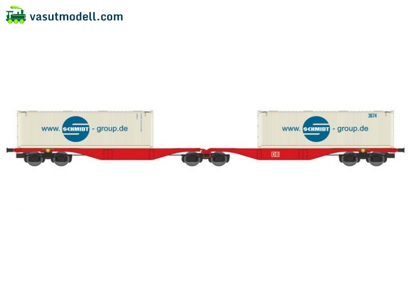 ACME 40354 Articulated container wagon Type Sggrss 80, of DB, loaded with 2 containers SCHMIDT