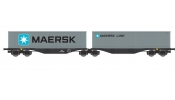ACME 40360 Articulated container wagon Type Sggrss 80, of PKP, loaded with 2 MAERSK containers