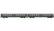 ARNOLD 4183 2-unit set coaches (1 with drivers cab) Lowa E5 , DR, period IV a, livery dark green/grey without front stripe