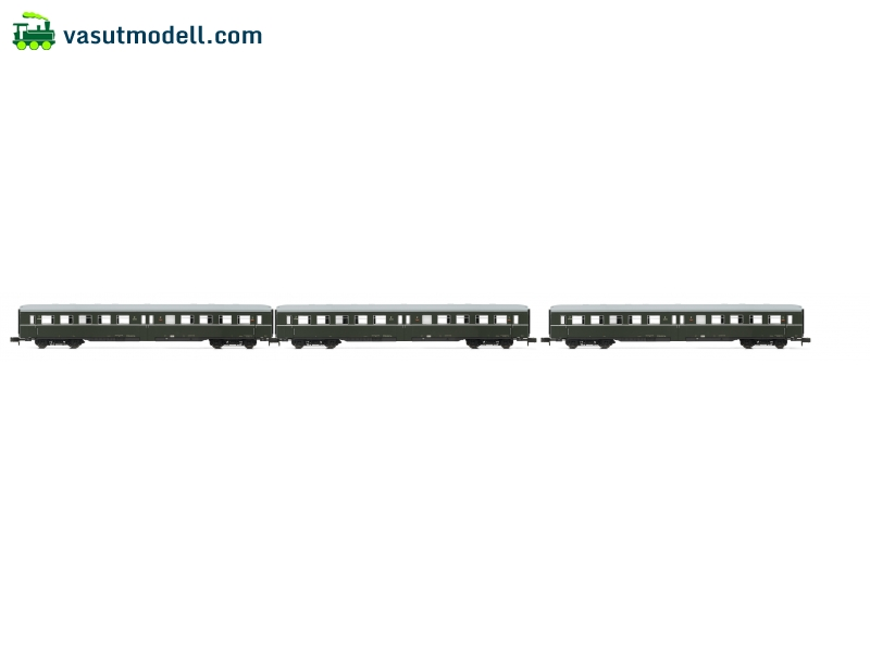 ARNOLD 4192 3-unit set coaches without drivers cab, DR, period IV a, livery dark green/grey