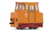 ARNOLD 9038 Accumulator shunting locomotive ASF, DR, orange with red chassis, period 4
