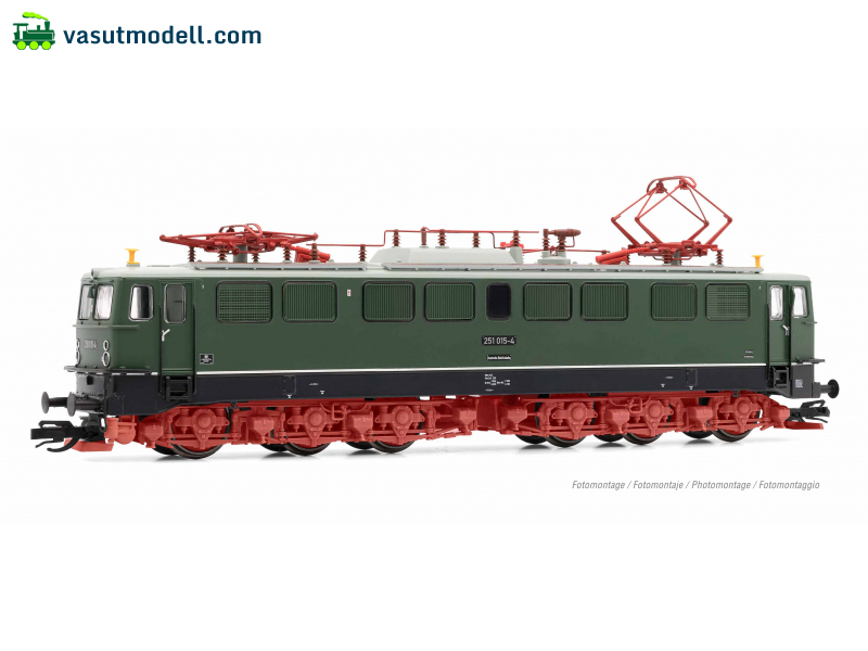 ARNOLD 9045S DR, electric locomotive class 251 in green livery with red bogies, 251 015-4, period IV, with DCC-sounddecoder