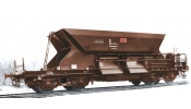 ARNOLD 9701 3-unit set self discharging wagons, Fac 125, DBAG, with low top-box