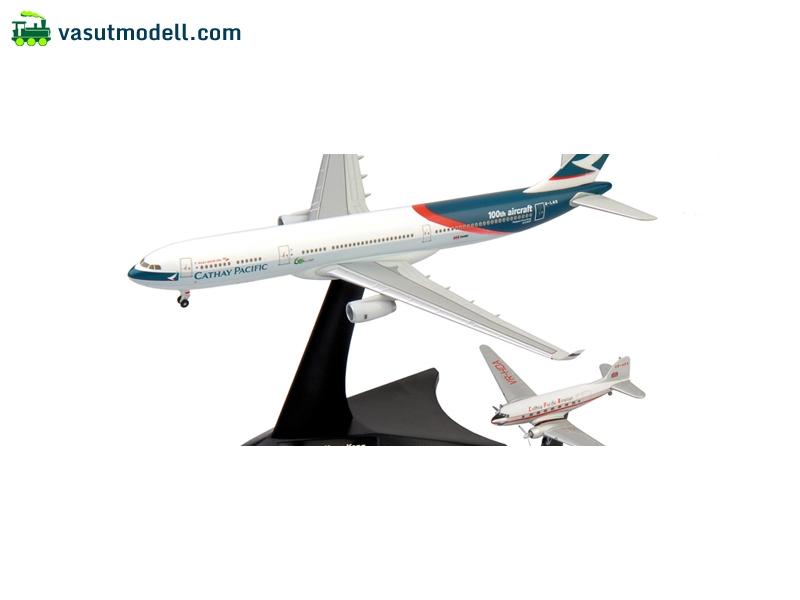 Progress Hong Kong Aircraft Model Kit Herpa 562089 Cathay Pacific Airways Set Douglas DC-3// Airbus A330-300 Niki Multi-Colour