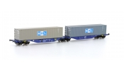 HOBBYTRAIN 70501 Sggmrs 90 ITL 2x Container MOL
