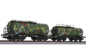 LILIPUT 230134 Tank Wagon Set Military Camouflage Livery DR, II
