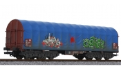 LILIPUT 235779 Steel Transport Wagon Blue Tarpaulin DB Ep.V Weathered