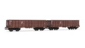 Rivarossi 6279 Set of 2 open wagons Eas, OPW, brown, DR, IV
