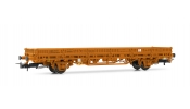 Rivarossi 6304   2-axle flat wagon without stakes, ÖBB, period V, livery orange, unloaded,   Materialwagen