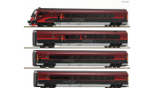 ROCO 64188 4-tlg Set Railjet DC