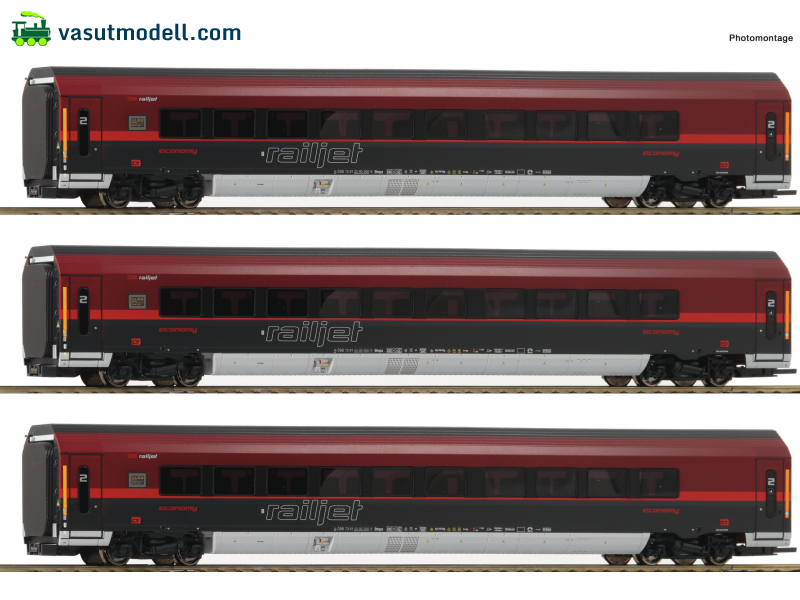 ROCO 64192 3-tlg Set Railjet DCC