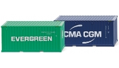 WIKING 1814 Zubehörpackung - 20 Container (NG) Evergreen & CMA-CGM - accessories package - set accessoires