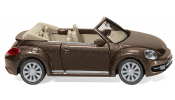 WIKING 2802 VW The Beetle Cabrio - toffeebraun met. / brown met. / brun mét.